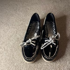 NEW! Black Patent Leather Sperry Loafers
